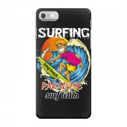 surfing log beach paradise surf team iPhone 7 Case | Artistshot