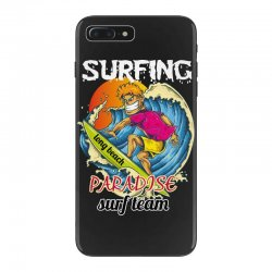 surfing log beach paradise surf team iPhone 7 Plus Case | Artistshot