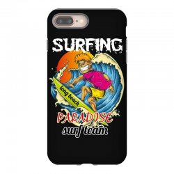 surfing log beach paradise surf team iPhone 8 Plus Case | Artistshot