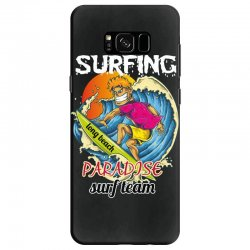 surfing log beach paradise surf team Samsung Galaxy S8 Case | Artistshot
