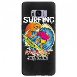 surfing log beach paradise surf team Samsung Galaxy S8 Plus Case | Artistshot