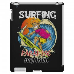 surfing log beach paradise surf team iPad 3 and 4 Case | Artistshot