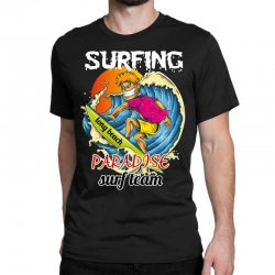 surfing log beach paradise surf team Classic T-shirt | Artistshot