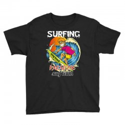 surfing log beach paradise surf team Youth Tee | Artistshot