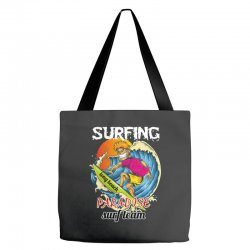 surfing log beach paradise surf team Tote Bags | Artistshot