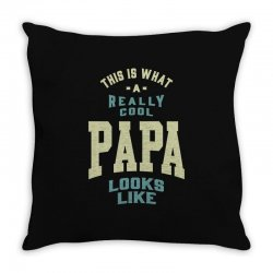Really Cool Papa Throw Pillow | Artistshot