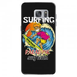 surfing log beach paradise surf team Samsung Galaxy S7 Case | Artistshot