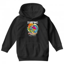 surfing log beach paradise surf team Youth Hoodie | Artistshot