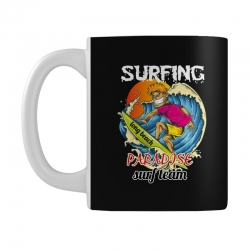 surfing log beach paradise surf team Mug | Artistshot