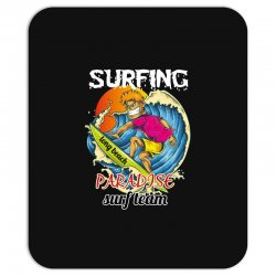 surfing log beach paradise surf team Mousepad | Artistshot