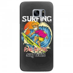 surfing log beach paradise surf team Samsung Galaxy S7 Edge Case | Artistshot