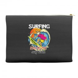 surfing log beach paradise surf team Accessory Pouches | Artistshot