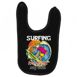 surfing log beach paradise surf team Baby Bibs | Artistshot