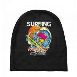 surfing log beach paradise surf team Baby Beanies | Artistshot