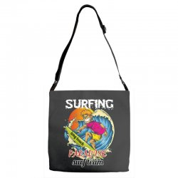 surfing log beach paradise surf team Adjustable Strap Totes | Artistshot