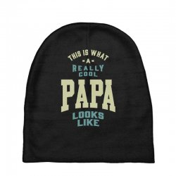 Really Cool Papa Baby Beanies | Artistshot