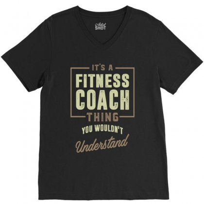 Fitness Coach V-neck Tee Designed By Cidolopez