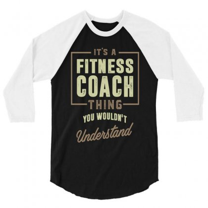 Fitness Coach 3/4 Sleeve Shirt Designed By Cidolopez