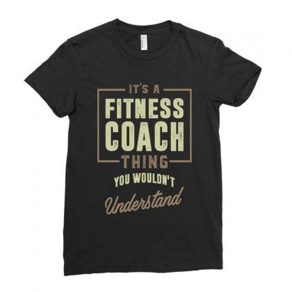Fitness Coach Ladies Fitted T-shirt Designed By Cidolopez