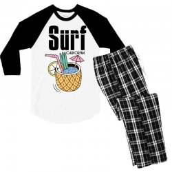 surf california Men's 3/4 Sleeve Pajama Set | Artistshot