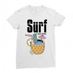 surf california Ladies Fitted T-Shirt | Artistshot