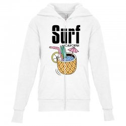 surf california Youth Zipper Hoodie | Artistshot