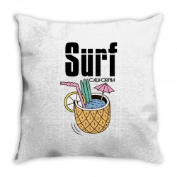 surf california Throw Pillow | Artistshot