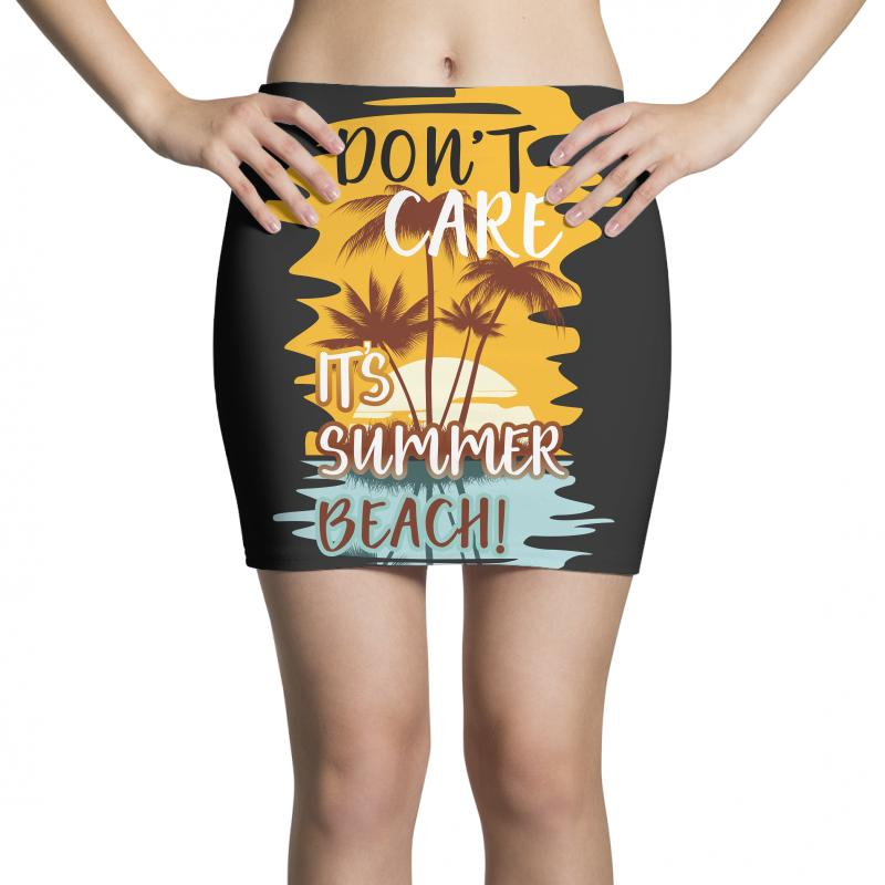 d3120bed Custom Don't Care It's Summer Beach Mini Skirts By Wizarts - Artistshot