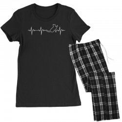 cat heartbeat Women's Pajamas Set | Artistshot