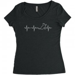 cat heartbeat Women's Triblend Scoop T-shirt | Artistshot