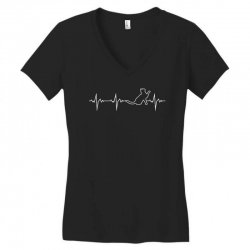 cat heartbeat Women's V-Neck T-Shirt | Artistshot