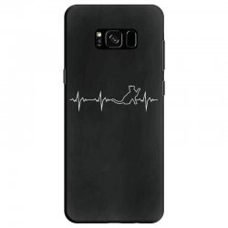 cat heartbeat Samsung Galaxy S8 Case | Artistshot