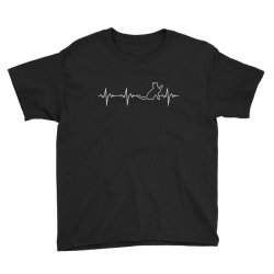 cat heartbeat Youth Tee | Artistshot