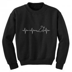 cat heartbeat Youth Sweatshirt | Artistshot