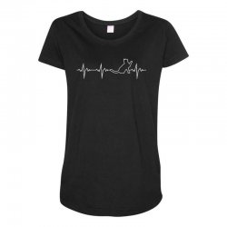 cat heartbeat Maternity Scoop Neck T-shirt | Artistshot