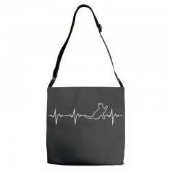 cat heartbeat Adjustable Strap Totes | Artistshot