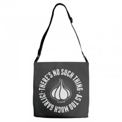 can't ever have too much garlic Adjustable Strap Totes | Artistshot