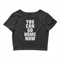 you can go home now Crop Top | Artistshot