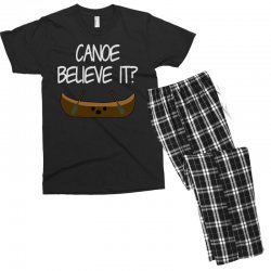 canoe believe it funny pun (can you) Men's T-shirt Pajama Set | Artistshot