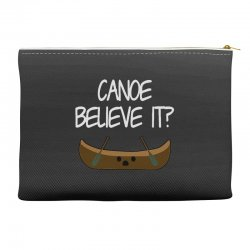 canoe believe it funny pun (can you) Accessory Pouches | Artistshot