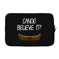 canoe believe it funny pun (can you) Laptop sleeve | Artistshot