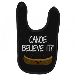 canoe believe it funny pun (can you) Baby Bibs | Artistshot