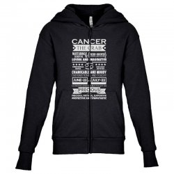 cancer the crab zodiac sign characteristics Youth Zipper Hoodie | Artistshot