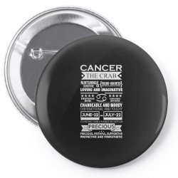cancer the crab zodiac sign characteristics Pin-back button | Artistshot