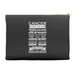 cancer the crab zodiac sign characteristics Accessory Pouches | Artistshot