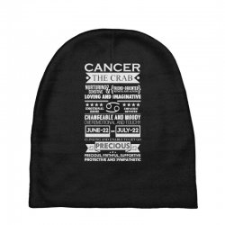 cancer the crab zodiac sign characteristics Baby Beanies | Artistshot