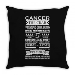 cancer the crab zodiac sign characteristics Throw Pillow | Artistshot
