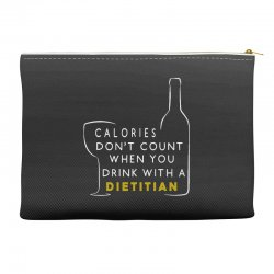 calories don't count when you drink with a dietitian Accessory Pouches | Artistshot