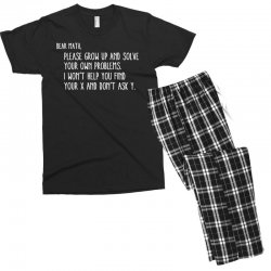 dear math please grow old and solve your own problems Men's T-shirt Pajama Set | Artistshot