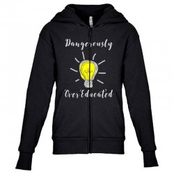 dangerously overeducated Youth Zipper Hoodie | Artistshot